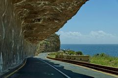 Chapman's Peak Drive. Awesome road to Cape of Good Hope. Stock Photos