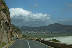 Chapman's Peak Drive. Awesome road to Cape of Good Hope. Royalty Free Stock Photos