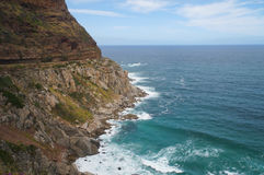 Chapman`s peak drive in Cape Town, South Africa. royalty free stock image