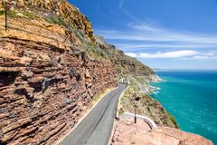 Chapman`s Peak Drive near Cape Town on Cape Peninsula royalty free stock images