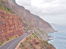 Chapman`s Peak Drive in South Africa. royalty free stock photo