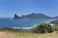 Chapman's Peak Drive. View to Hout bay and Hout town. Royalty Free Stock Images