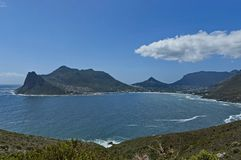 Chapman's Peak Drive. View to Hout bay and Hout town Stock Images
