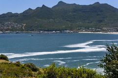 Chapman's Peak Drive. View to Hout town harbor area. Royalty Free Stock Image