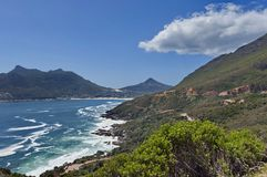 Chapman's Peak Drive. View to part of beautiful Hout bay coastline. Stock Photos