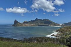 Chapman's Peak Drive. View to part of beautiful Hout bay coastline. Stock Photo