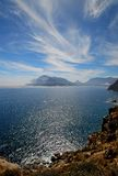 Chapman's View vert. Cape Town view from Chapmans Peak drive Royalty Free Stock Photography