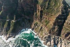 Chapmans峰顶推进Soth非洲鸟瞰图 免版税库存图片