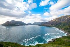 从Chapmans峰顶驱动的看法在南非 库存照片