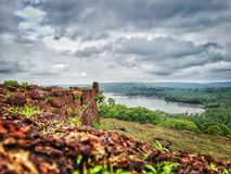 Chapora Fort. Chapora, Goa, India Stock Image
