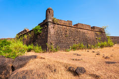 Chapora Fort in Goa. Chapora Fort is located in north Goa, rises high above the Chapora River, India royalty free stock image