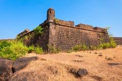 Chapora fort i Goa royaltyfri bild
