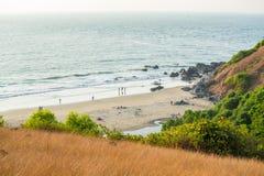 Chapora plaża w Luty Obrazy Stock