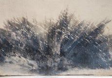 Chapoteo abstracto de la pintura Imágenes de archivo libres de regalías