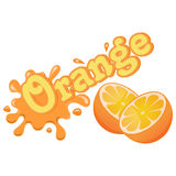 Chapoteo anaranjado colorido del vector Imagenes de archivo