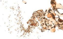 Chapoteo anaranjado del agua Imagen de archivo libre de regalías