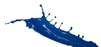 Chapoteo azul aislado de la pintura Fotografía de archivo libre de regalías
