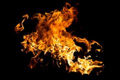 Chapoteo caliente del fuego Fotografía de archivo