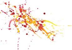 Chapoteo colorido de la acuarela en el Libro Blanco Libre Illustration