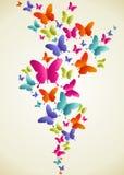 Chapoteo colorido de la mariposa ilustración del vector