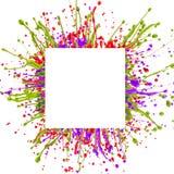 Chapoteo colorido de la pintura imágenes de archivo libres de regalías