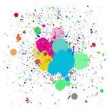 Chapoteo colorido de la tinta Foto de archivo libre de regalías
