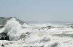 Chapoteo costero Imagen de archivo