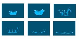 Chapoteo de la animación Fotos de archivo libres de regalías