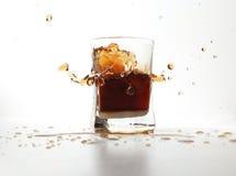 Chapoteo de la bebida Foto de archivo