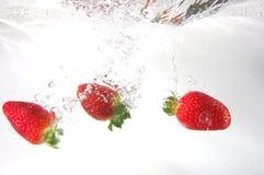 Chapoteo de la fresa Imagen de archivo libre de regalías