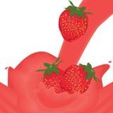 Chapoteo de la fresa en negro libre illustration