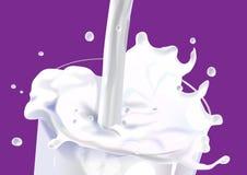 Chapoteo de la leche ilustración del vector