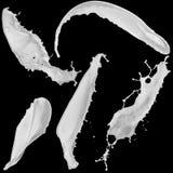 Chapoteo de la leche Imagenes de archivo