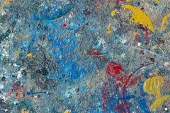 Chapoteo de la pintura de aceite en piso Foto de archivo libre de regalías
