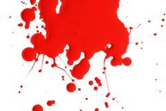 Chapoteo de la pintura roja Foto de archivo libre de regalías