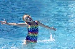 Chapoteo de la piscina Fotos de archivo