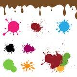Chapoteo de la tinta del color stock de ilustración
