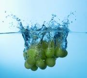 Chapoteo de las uvas Foto de archivo libre de regalías