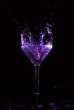 Chapoteo de Martini Fotografía de archivo libre de regalías