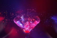 Chapoteo de Martini Foto de archivo libre de regalías