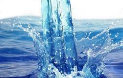 Chapoteo del agua Fotos de archivo libres de regalías