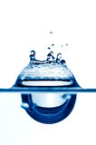 Chapoteo del agua imagen de archivo libre de regalías