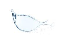 Chapoteo del agua aislado en el fondo blanco foto de archivo libre de regalías