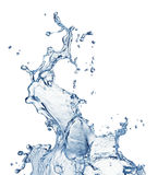 Chapoteo del agua azul aislado fotografía de archivo libre de regalías