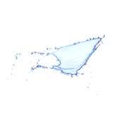 Chapoteo del agua azul aislado en blanco Fotografía de archivo