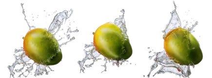 Chapoteo del agua con el mango aislado Fotografía de archivo libre de regalías