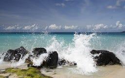 Chapoteo del Caribe Imágenes de archivo libres de regalías