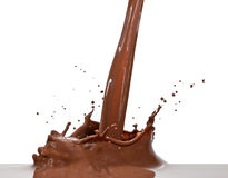 Chapoteo del chocolate Foto de archivo