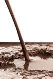 Chapoteo del chocolate caliente Imagen de archivo libre de regalías