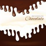 Chapoteo del chocolate con leche Imagen de archivo